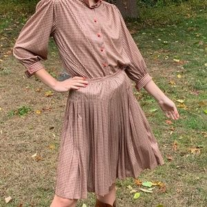 Vintage 50s Geometric High Waist Full Circle Skirt